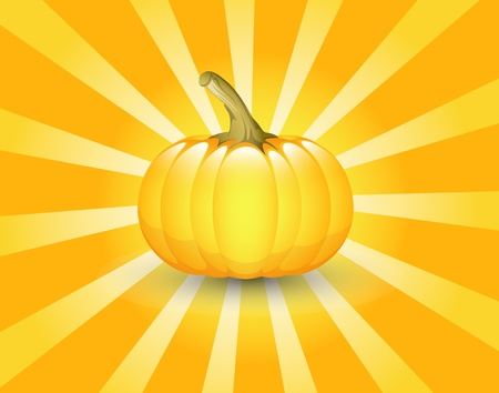 Pumpkin Retro Background Vector
