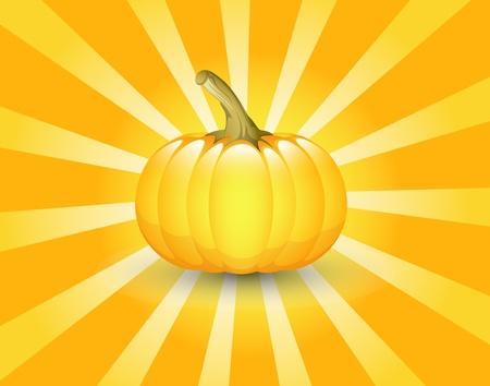 Pumpkin Retro Background Vector