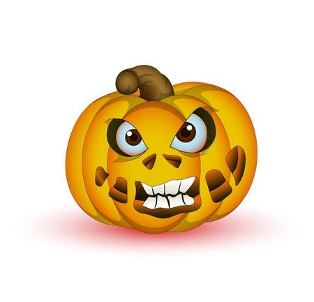 horrible: Horrible Halloween Pumpkin Vector