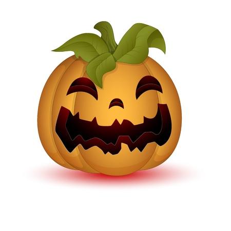 Illustration of Scary Halloween Pumpkin Vector