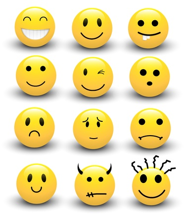 face expressions: Smileys Vectors