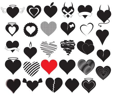 Vecteurs de coeur Vecteurs