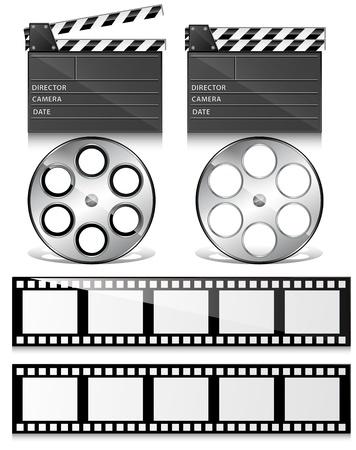 carrete de cine: Clap Junta y Vectores rollo de pel�cula