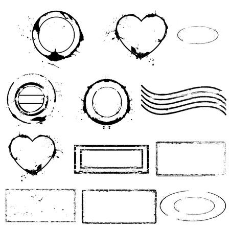Valentines Stamps Vectors