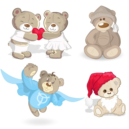 bears: Teddy Bears Vectors Illustration