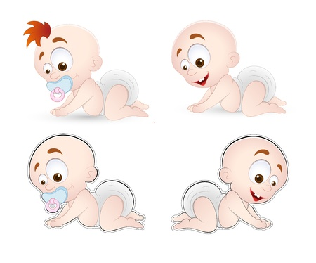 crawl: Crawling Baby Vector Illustration
