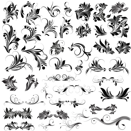 filigree: Floreren Vectoren Elements