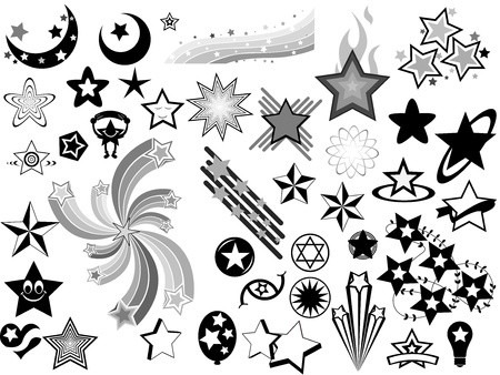 stars vector: Stars Vector Elements Illustration