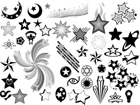 stars vector: Stars Vector Elements Illustration