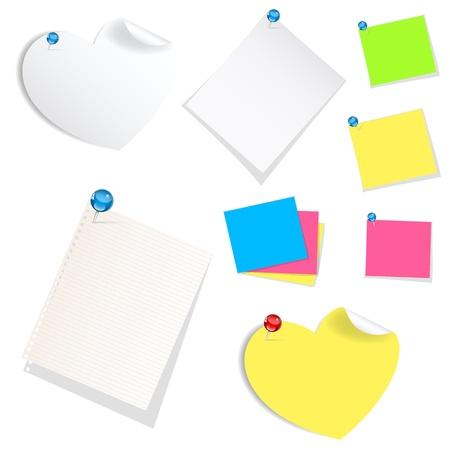 sticky notes: Zelfklevende memoblaadjes Vectoren