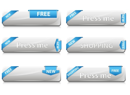 Web Buttons Vectors Vector