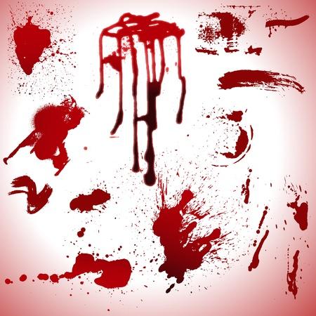 verschmieren: Blood Drops und Stains Vektoren