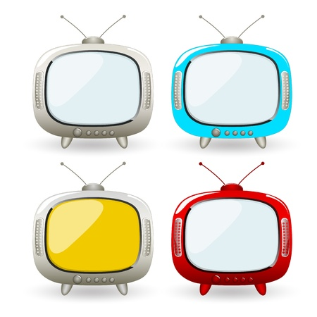 Cartoon TV Vectors Vector