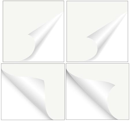 turn the corner: Esquinas de papel rizado vector