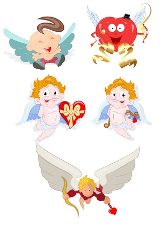 Cupid Cartoon Vectors Vector