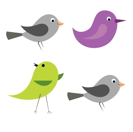 royalty free illustrations: Cartoon Vector Birds