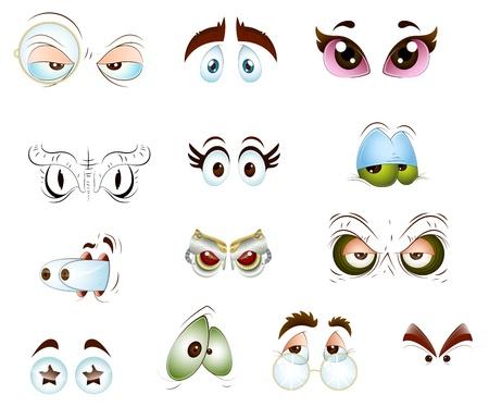 ojos caricatura: Ojos Vectores