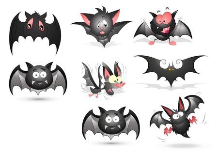 ghost character: Bats Vectors