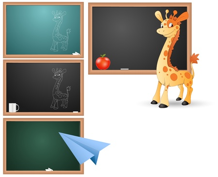 Classroom Board and Concepts  Stock Vector - 15171676
