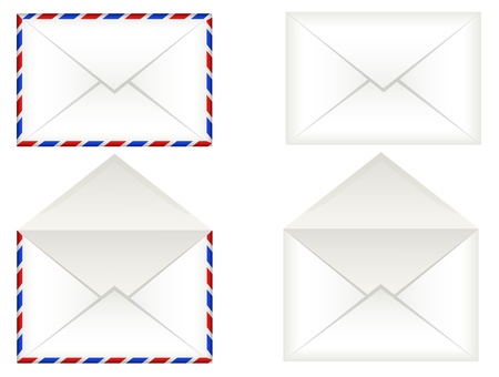 envelope with letter: Buste Vettoriali