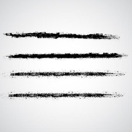 a brush: Grunge Strokes