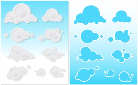 Cute Clouds  Vector