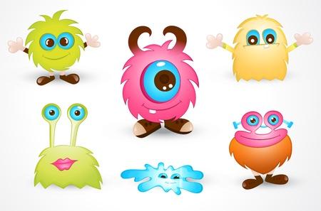 cartoon monster: Cute Cartoon Monster