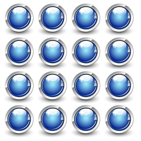 High gloss button  Vector