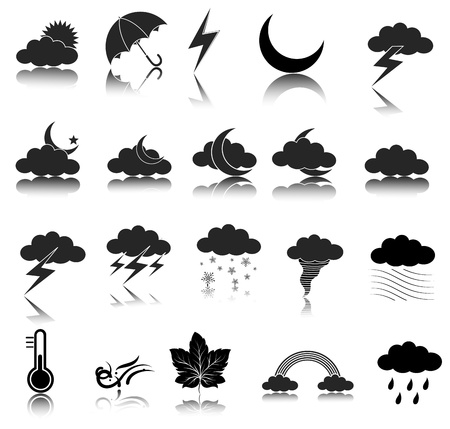 Weather Icons Stock Vector - 15171689
