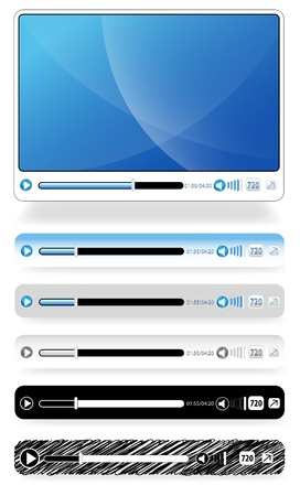 audio player: Video and Audio Player Illustration