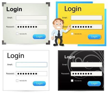 website window: Login Box  Illustration