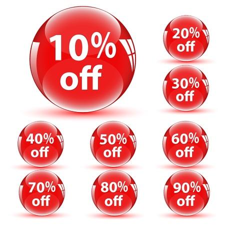 feedback sticker: Discount Icons Illustration