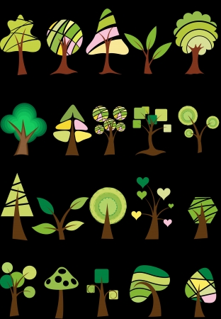 Trees Vectors Stock Vector - 15229842