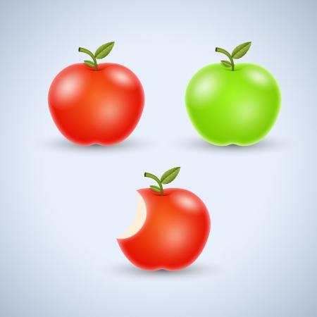 apple bite: Apples Vectors