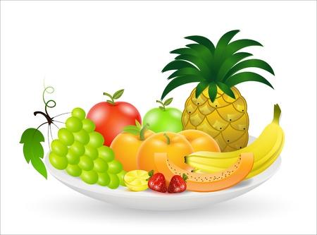 Fruits Vectors Illustration