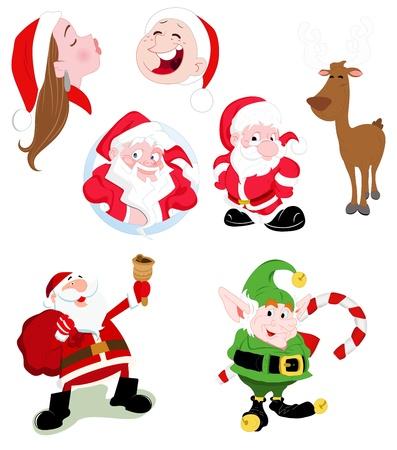 dwarf costume: Santa Claus Vectors