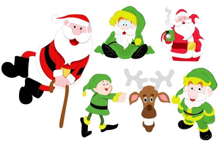 Christmas Santa Illustrations Vectors Vector