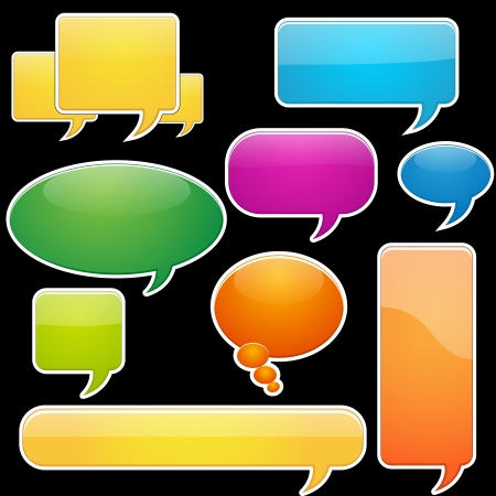 Speech Bubbles Stickers Vectors Vector