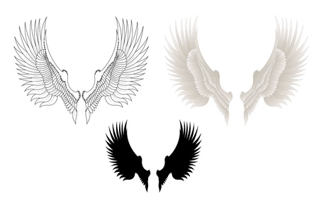 gothic angel: Vector Wings