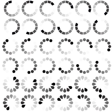 processing speed: Preloader Elements Illustration