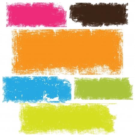 beroerte: Grunge banners vectoren Stock Illustratie