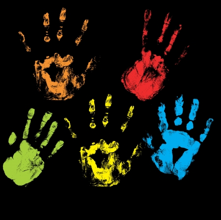 Handprints Vectors Stock Vector - 15244777
