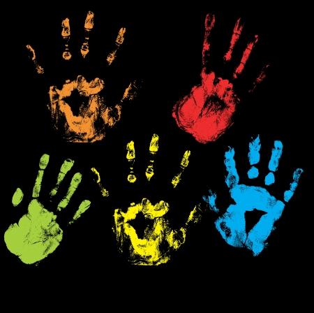 Handprints Vectors Stock Vector - 15244777