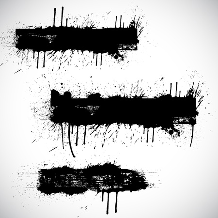 dripping paint: Vector Grunge Banner Element