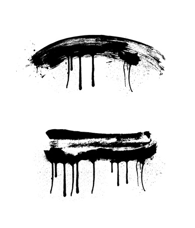 dripping paint: Grunge Vector Paint Illustration