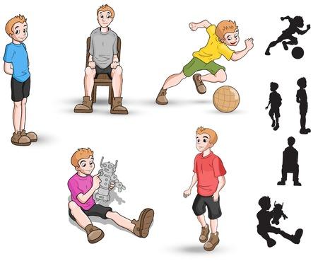 chair cartoon: Cartoon Boy Vector