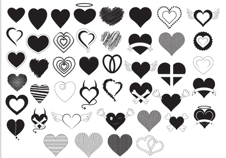 Hearts Vectors Stock Vector - 15244528