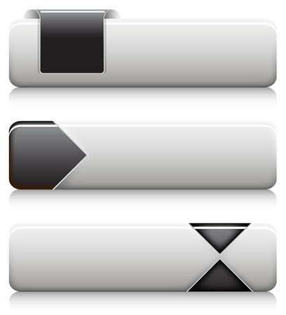 slick: Vector Slick Buttons Illustration