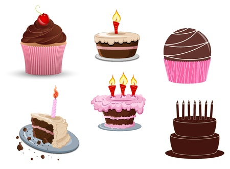 cup cakes: Cakes Vectors