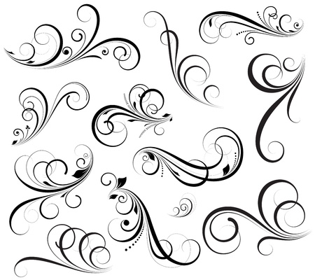design floral: Swirls Vectors